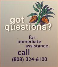 For immediate help please call (808) 324-6100